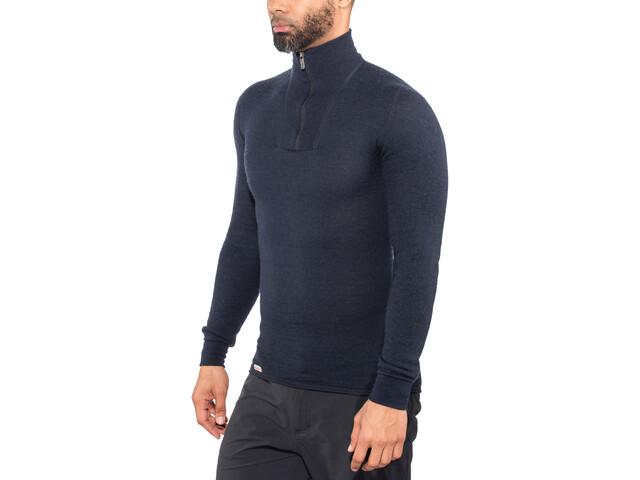 Woolpower 200 Sweat-shirt à col roulé avec demi-zip, dark navy